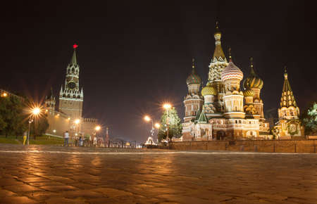 city square: St Basil cathedral, Red Square, Moscow