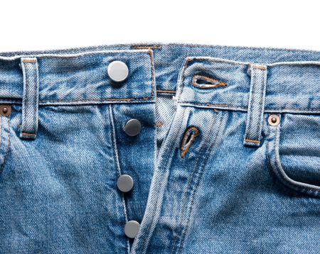 jeansstoff: Closeup Detail einer blauen Jeans