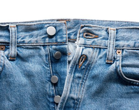Closeup detail of a blue jeans Stock Photo