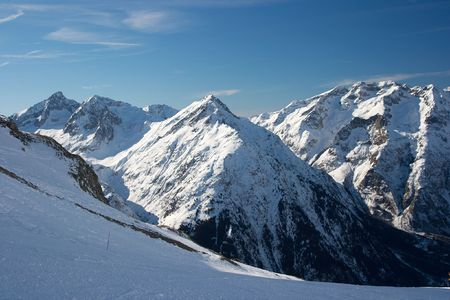 High mountain landscape in winter Stock Photo - 3908832