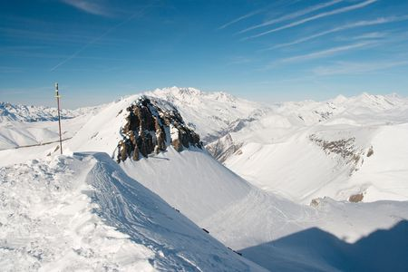 High mountain landscape covered with snow Stock Photo - 4104277