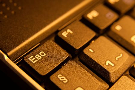 escape key: Keyboard detail with escape key