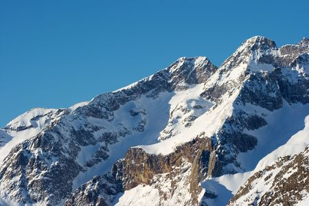 High mountain landscape with snow covered rocks Stock Photo - 4133264