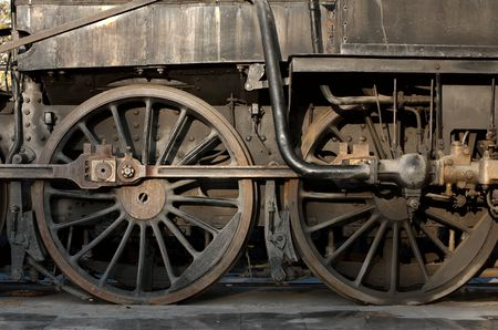 Detail of an old steam locomotive Stock Photo - 4407863