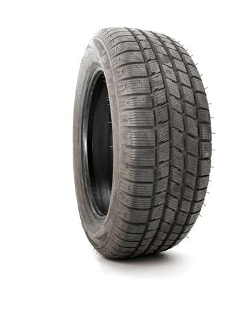 Car tyre isolated on white background photo