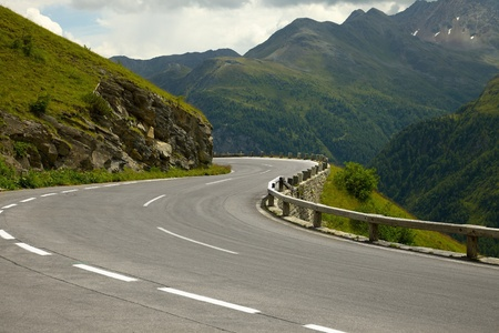 rough road: Road turning in the mountains