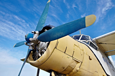 airscrew: Engine of an old plane