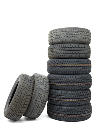 A set of new winter tyres Stock Photo - 22490612