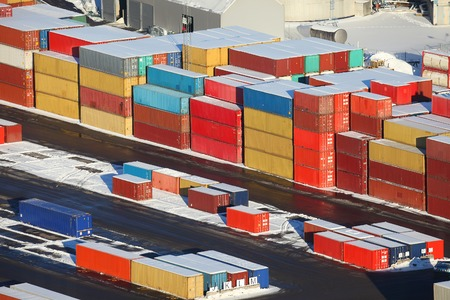 dockyard: Heavy containers in a dock