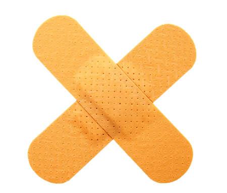 primeros auxilios: Vendas de yeso en forma de cruz