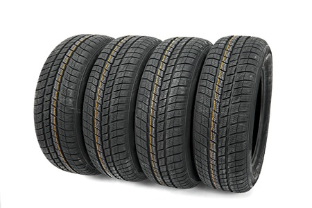 A set of new winter tyres Stock Photo - 22778457