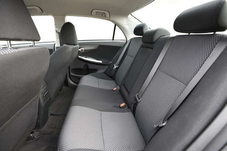 Car interior with back seats photo