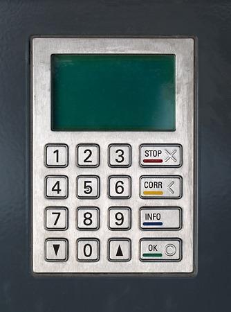 cash machine: Password screen of a cash machine or point of sale termina