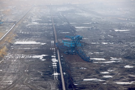 open pit: Open pit mining of coal