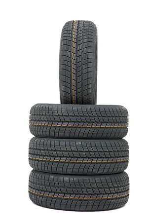 winter tires: A set of new winter tyres