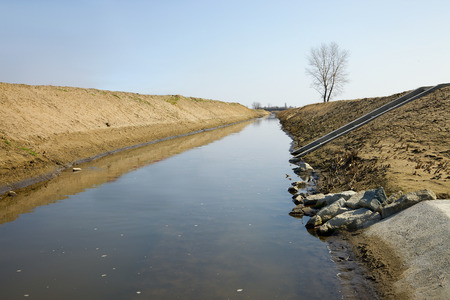 agricultural area: Irrigation canal of an agricultural area Stock Photo