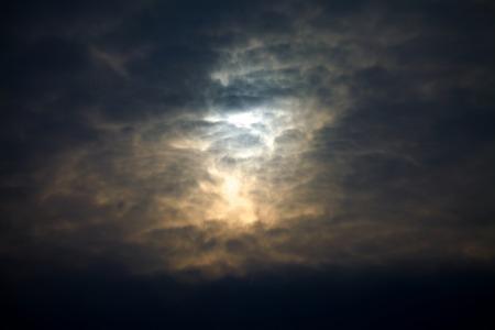 doom: Dark stormy sky with thinck clouds Stock Photo