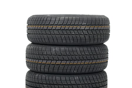 A set of new winter tyres Stock Photo - 24190224