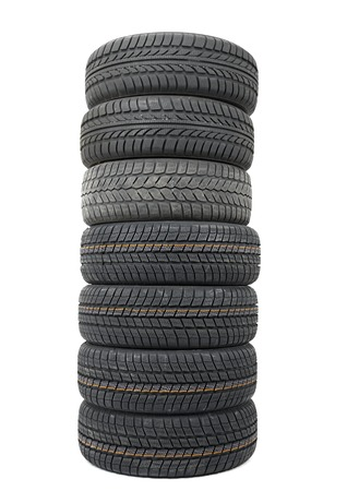 A set of new winter tyres Stock Photo - 25121404