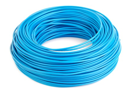 electric system: Roll of blue electic wire