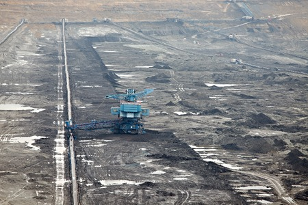 Open pit mining of coal photo
