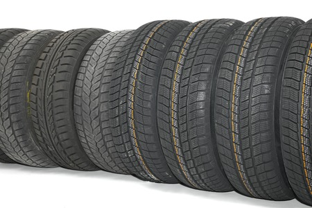 A set of new winter tyres Stock Photo - 25174075
