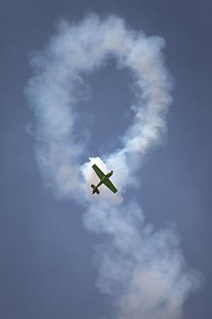 acrobatic: Aerobatcs plane practicing in the sky