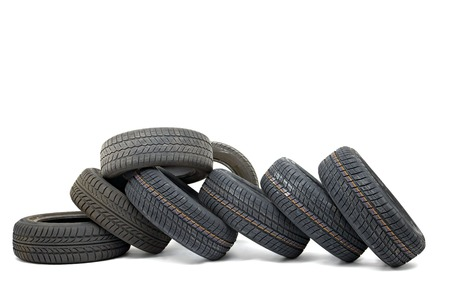 A set of new winter tyres Stock Photo - 26227205
