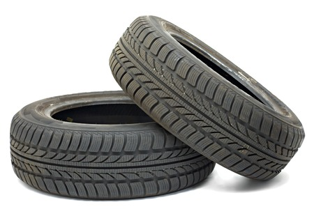 A set of new winter tyres Stock Photo - 26588693