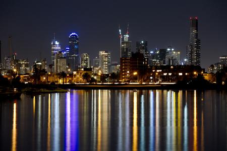 st kilda: Might skyline of Melbourne, Australia