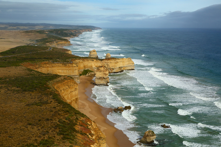 Coastal landscape of Port Campbell National Park photo