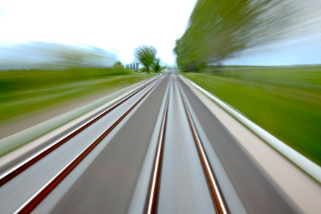 move ahead: Railway tracks with high speed motion blur