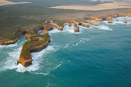 limestone: Coastal landscape of Port Campbell National Park