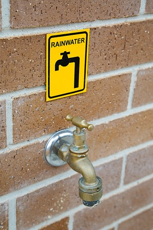 rainwater: Rainwater tap for ecological water use