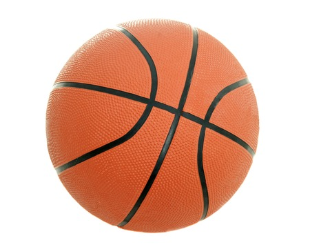 Basketball isolated on pure white background photo