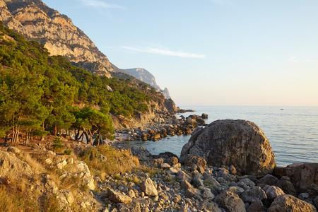 Black Sea Beach in Crimea photo