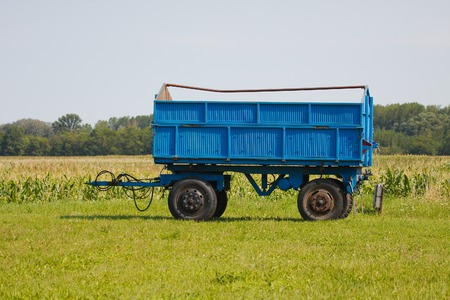 industrialized country: Tractor trailer on the agricultural fields