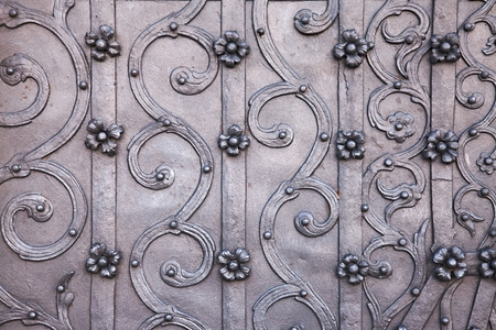 Old church door decorative details photo