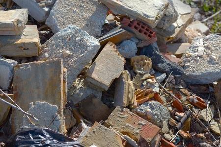 destruct: Pile of debris of a destroyed building