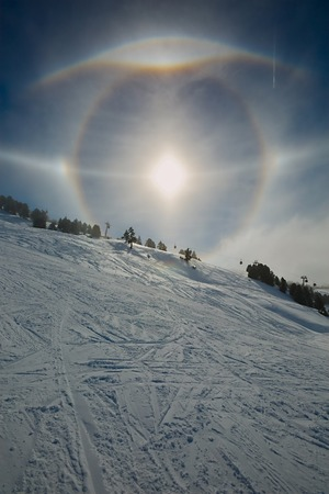 tangent: Varoious sun halos appearing in the winter sky