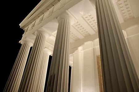 templo griego: Arquitectura, estilo de templo griego antiguo Foto de archivo