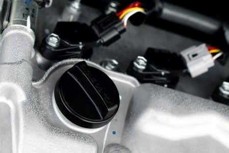 Detail of a car engine photo