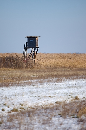 hunters tower: Outpost in the winter fields