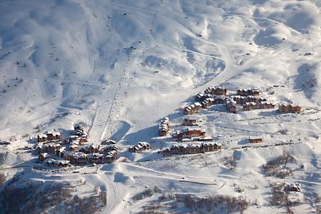 Ski resort in the alps, Valmeinier photo