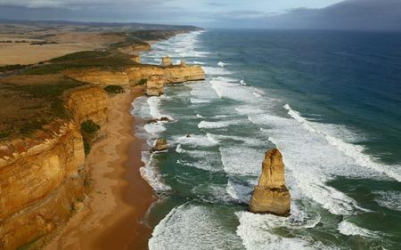 Coastal landscape of Port Campbell National Park photo