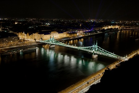 View of Budapest with the river Danube photo