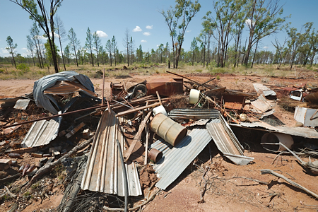 destruct: Pile of debris of metal scrap
