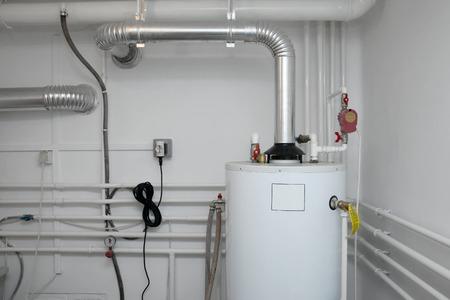sistema: Tubos de un sistema de calefacci�n Foto de archivo