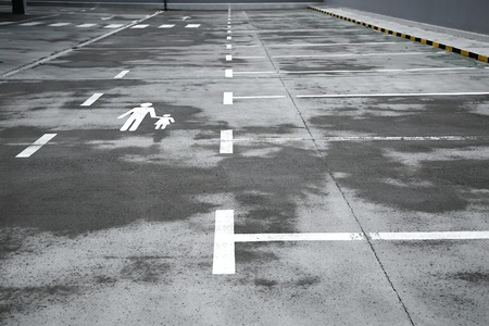 emty: Emty parking lot with rough surface