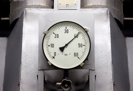 Manometers in high pressure industrial environment photo
